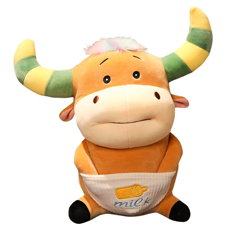 ตุ๊กตาลูกวัวยัดไส้สัตว์หลากสี,ตุ๊กตาวัวท้องตุ๊กตาของขวัญวันเกิดสำหรับผู้ชายและผู้หญิงจากผู้ผลิตโดยตรง