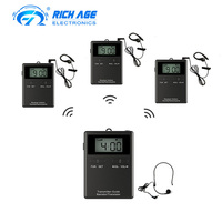 Radio UHF Wireless Tour Guide System Audio Whisper Tour Guide System for Museum