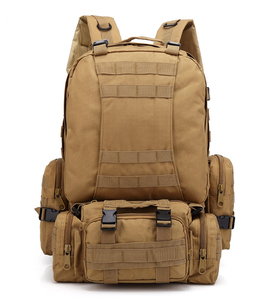 Oxford Waterproof Military Tactical Survival Bag 4 In1 Camouflage Military 60l Capacity Tactical Backpack
