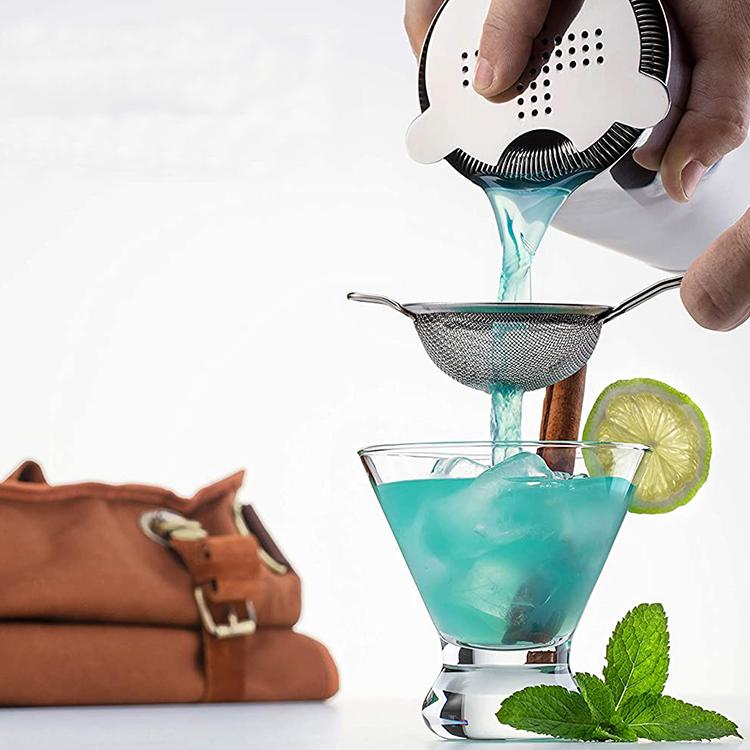 Svin Custom Logo Professional Bartender Kit 304 Stainless Steel Cocktail Shaker Set for Gift
