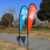 sports printed outdoor advertising custom event beach feather flag