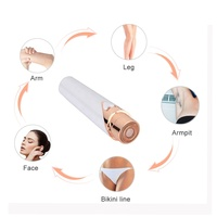 Battery Operated Private Label In Stock Lady Mini Facial Hair Removal Painless Epilator Razor