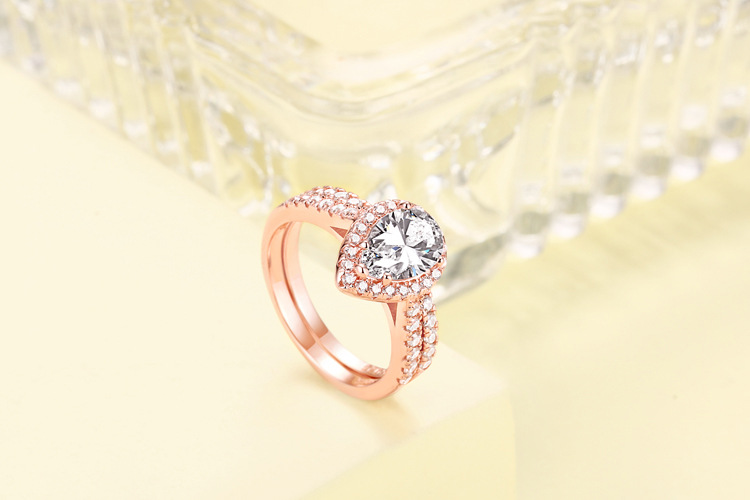 product-BEYALY-925 Sterling Silver Gemstone Stackable Eye Shaped Zircon Ring Womens-img-1