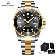 PAGANI DESIGN 2020 Мужские механические часы, мужские автоматические часы, мужские роскошные деловые Стальные наручные часы NH35A Relogio Masculino(Китай)