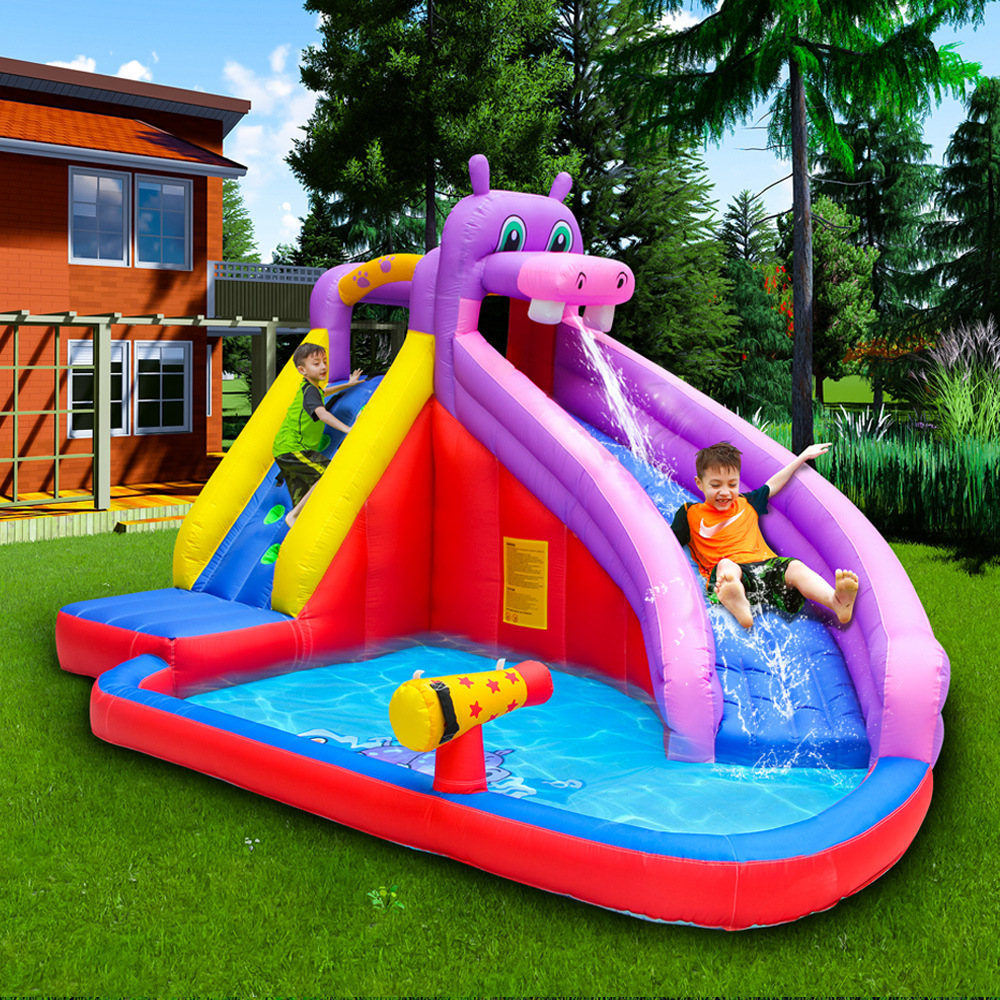 Amazon Hot Sale Summer Park Outdoor Trampoline Play Water Inflatable Slide Inflatable Castle