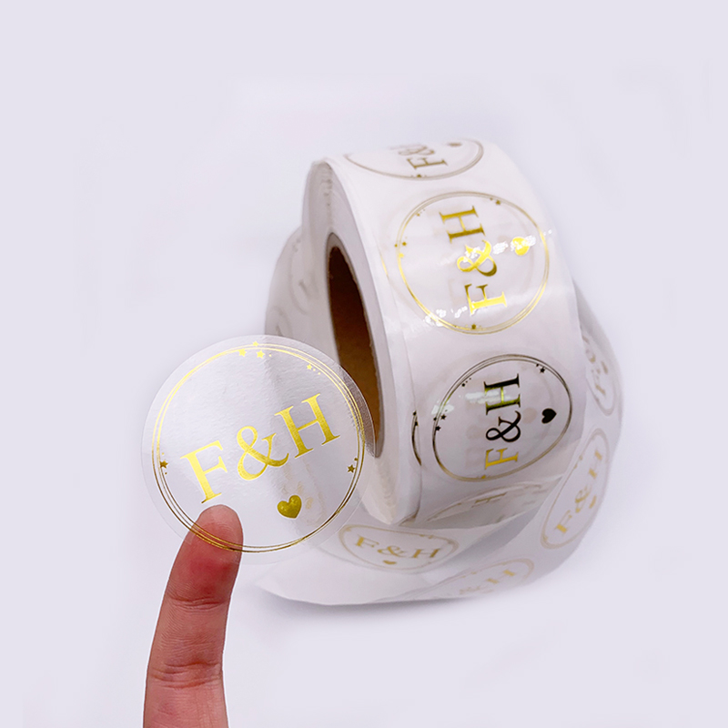 Self Adhesive Custom Stickers Transparent Coffee Labels Roll Custom Waterproof Bottle Gold Foil Label
