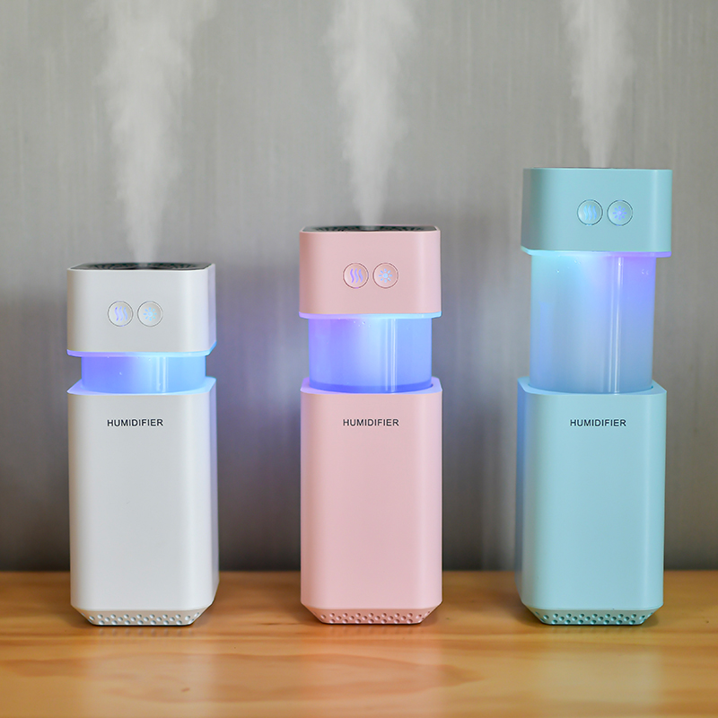 Square Cool Mist <strong>Humidifier</strong> Diffuser <strong>Portable</strong> USB Mini Telescope Air <strong>Humidifier</strong>