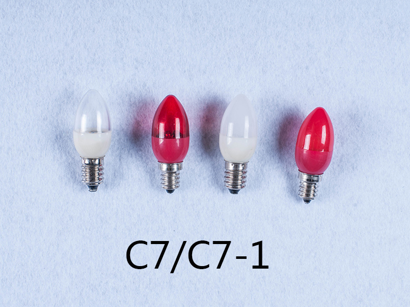 OEM C7 110V 240V 1w E12 E14 led light bulb for candle light and night light wall lamp