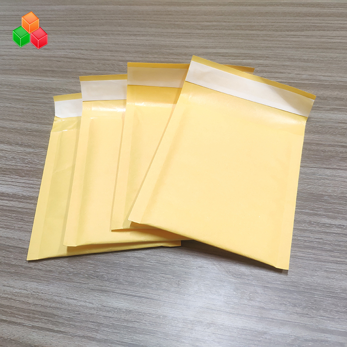 15*25 + 4 Cm Tahan Lama Kertas Kraft Gelembung Udara Amplop Plastik Amplop Poly Mailer untuk CD/File/Alat Tulis /Gambar Safety Pengiriman Kemasan