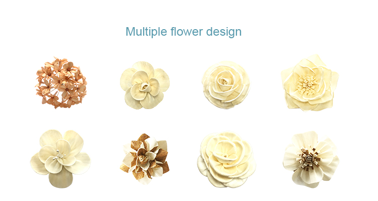 Design Flexibility balsa wood flowers for reed diffuseer