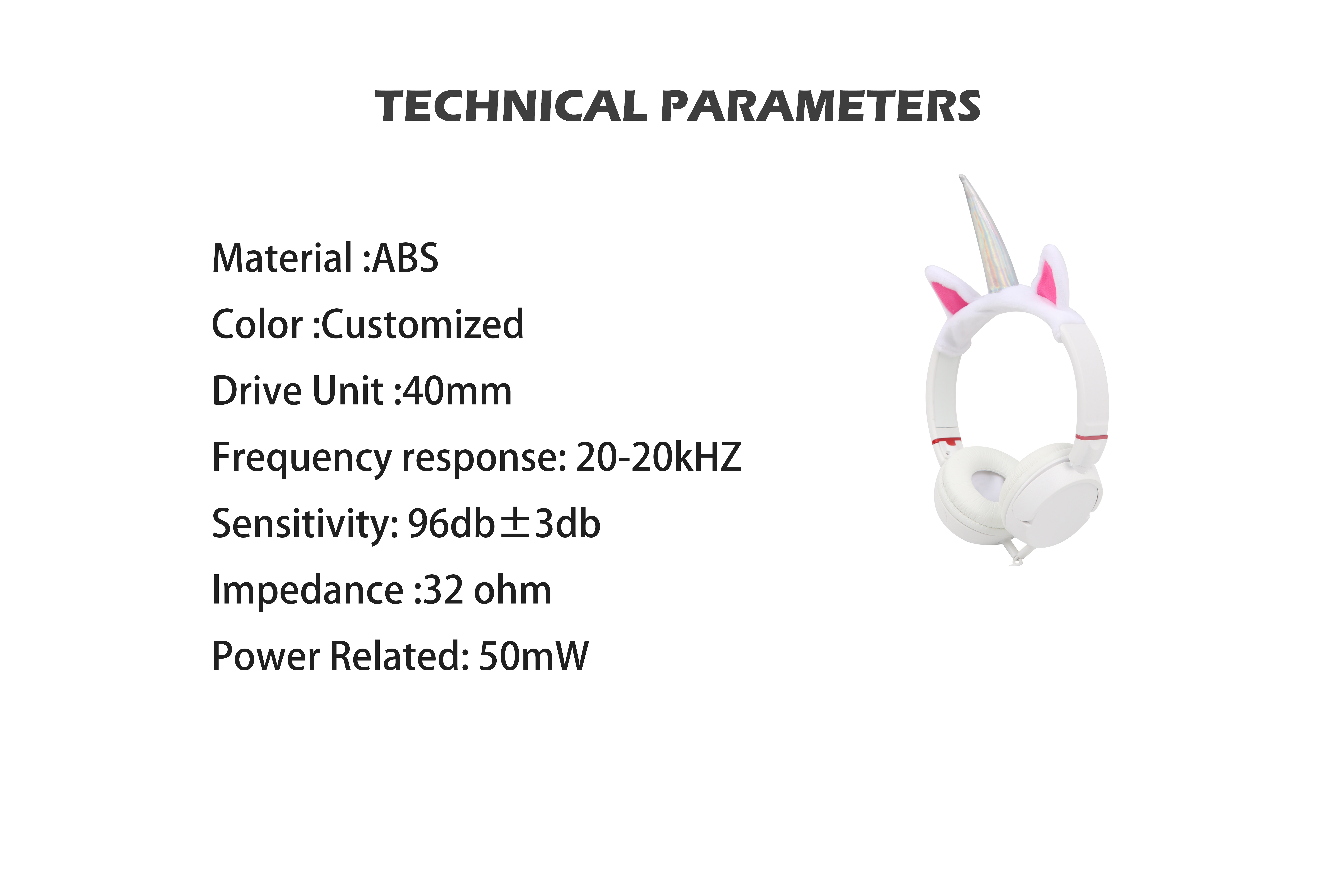 New Hot Selling Over-ear Cute design wired headphones for kids