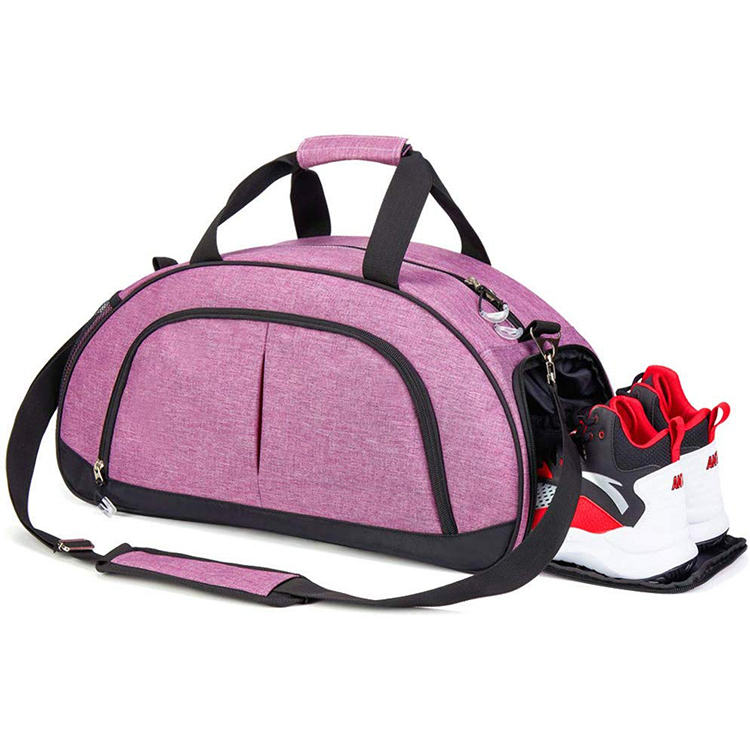 Osgoodway Womens Pink Gym Duffle Bag OEM Oxford Travel Duffel Bags for Sport Gym