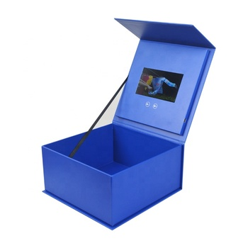 Presentation Marketing Greeting Gift Jewelry Ring Lcd Screen 5 inch Video Brochure Box for wedding business
