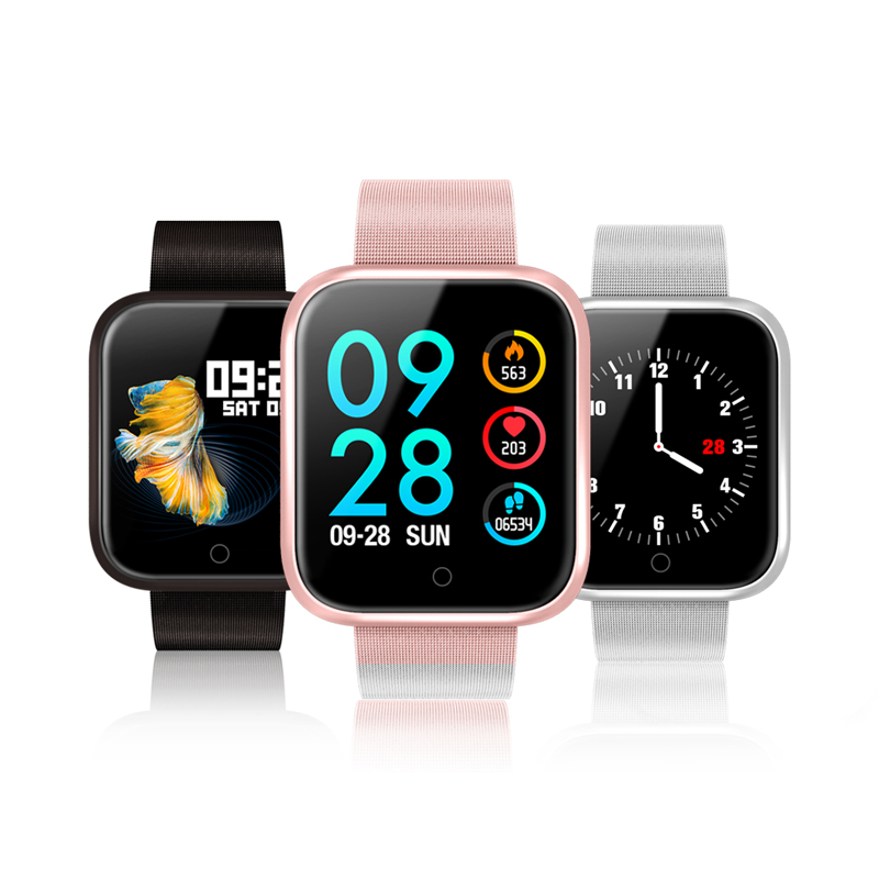 Hot 1.3 inch IPS full touch color screen Dynamic heart rate / blood pressure IP68 waterproof P70 P80 smart watch Smart Reminder
