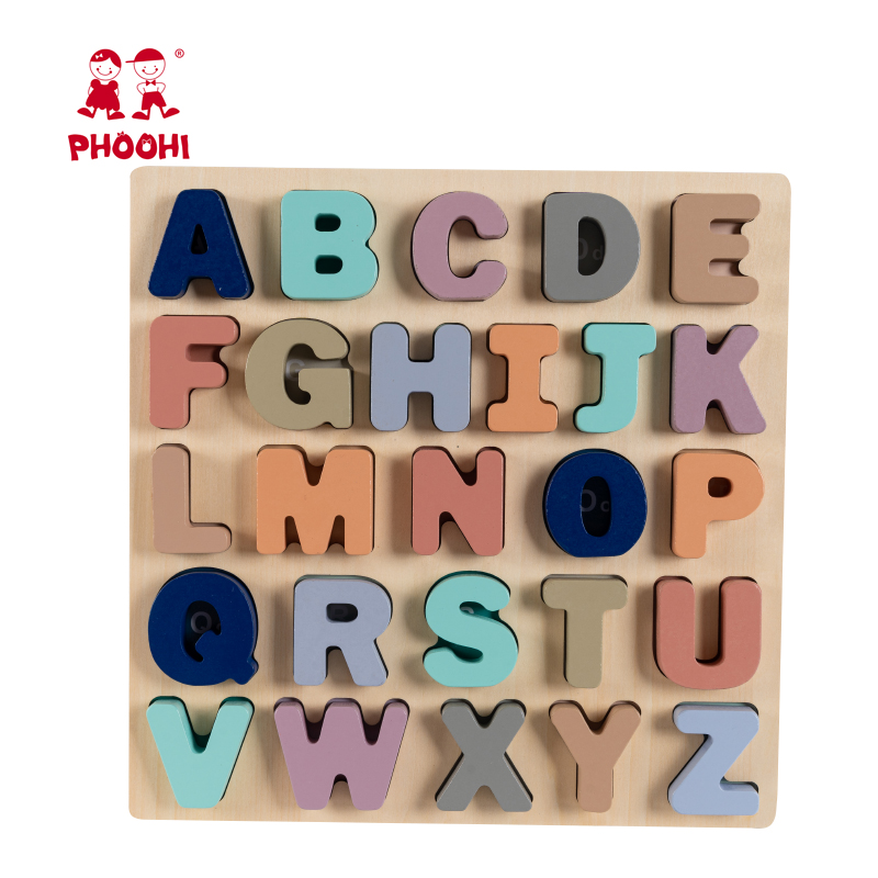 Hot New Educational Baby Play Capital Letter Toy Wooden Alphabet Puzzle For Toddler