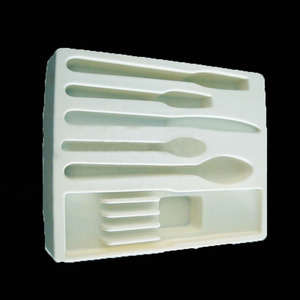 Thermo formed liner blister tray with flocking & velvet / flocking inner tray