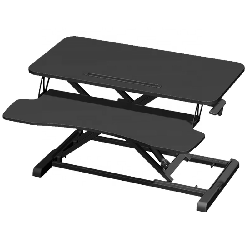 Lift height adjustable standing desk converter riser stand up laptop table