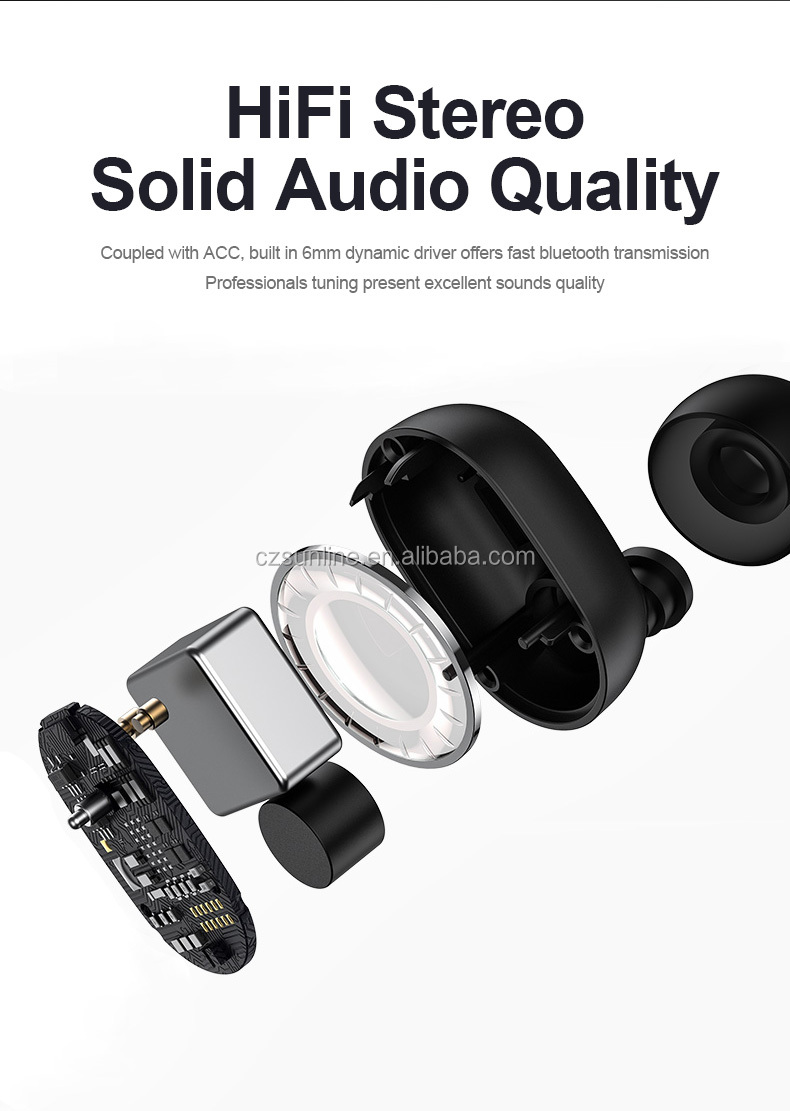 SUNLINE 2020 hot sale S17 Blue tooth 5.0 true wireless sport earphone wired HD sound quality noise cancelling TWS headphone