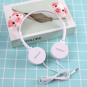 Lovely gift headphones Pink  piglet children's kids headphones wired headset