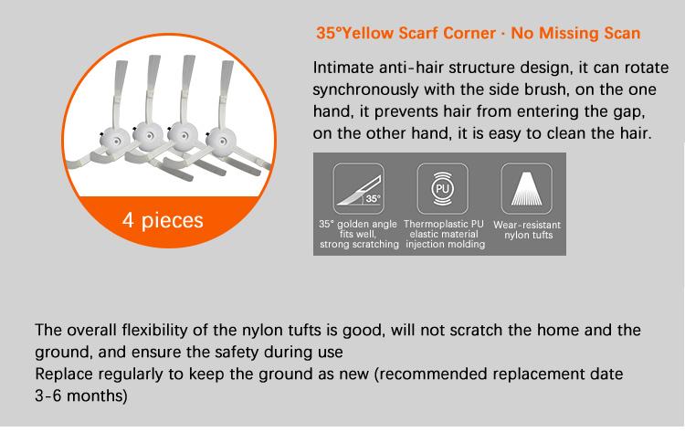 Original Robot Roborock S5 S6 Max White Xiaomi Mi Mijia Hepa Filter Filters Parts Brushes ForRobot Vacuum Cleaner