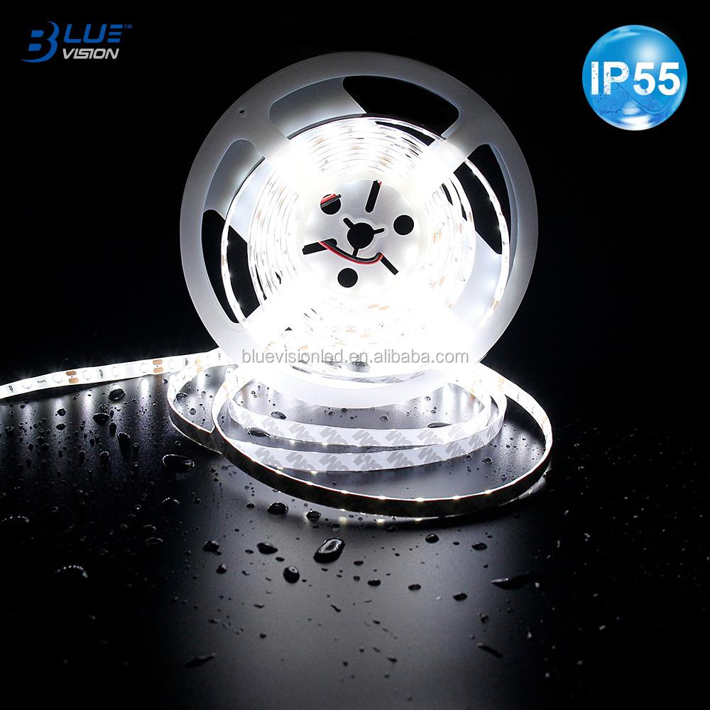 UL listed 12v 3528 60LEDs/M 6000K ra80 IP55 waterproof led strip light for lighting projects