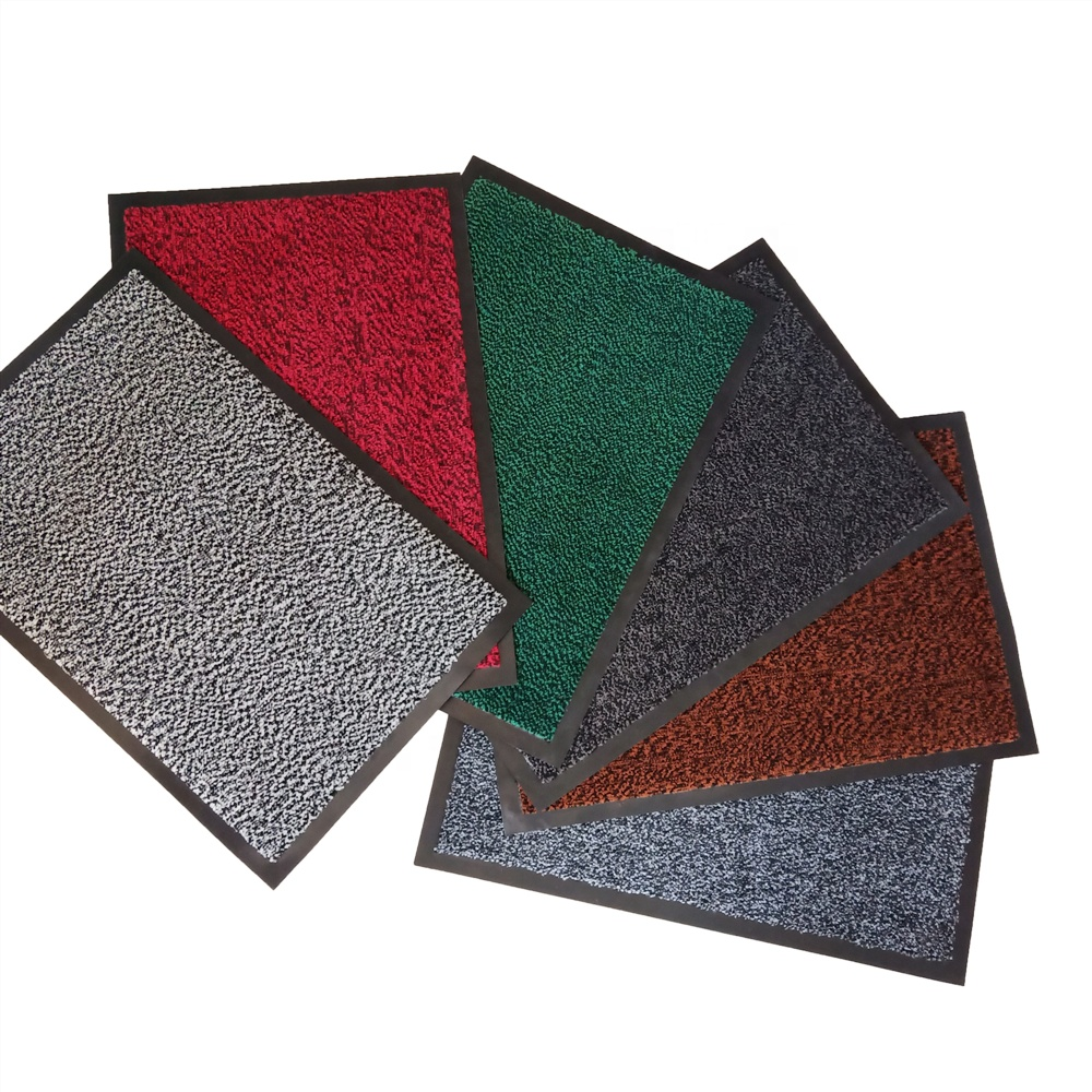 Uso commerciale di assorbire acqua di grandi dimensioni 100% polipropilene velluto tappetino zerbino con supporto IN PVC