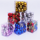 Wholesale Christmas Plastic Colorful Ball Sets Xmas Decoration Ornament Balls