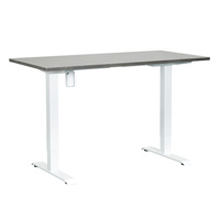 Single motor electric height adjustable standing desk frame folding sit stand table desk