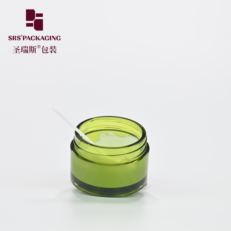 SRS Luxury Cosmetic 8g 15g 30g 50g 80g 100g PETG Clear Jar 5g Mini Nail Jar