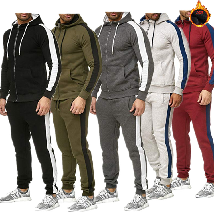 Mens Jogger Sets Casual 2 Piece Set Tracksuit man Tops with Pants Sweat Suit