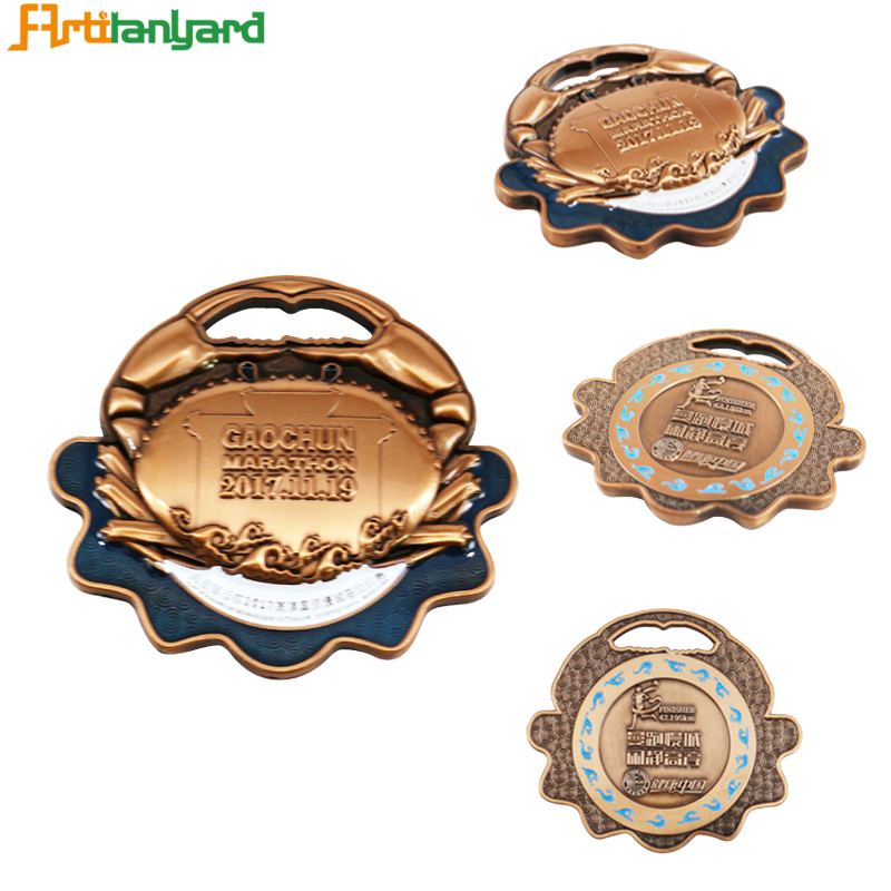 Wholesale Customize Chalice Center Challenge Item Medals With Ribbon