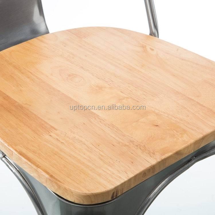 product-Uptop Furnishings-Sample design wood seat metal frame chair-img-3