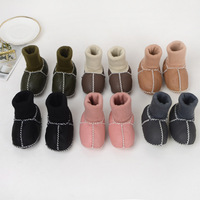 6 Colors High Top Toddler Baby Winter Shoes Soft Plush Sheepskin Wool Snow Booties