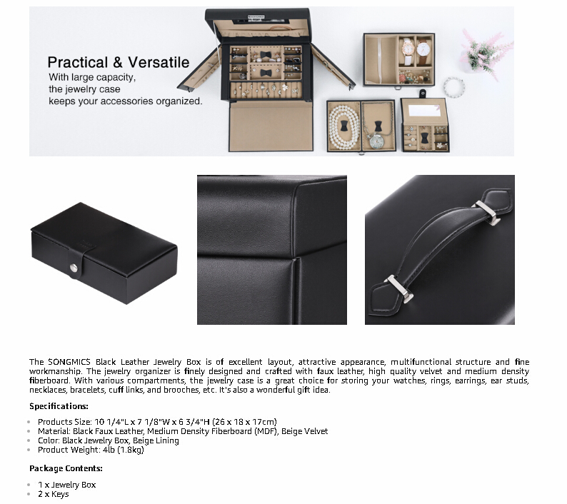OEM personalised portable paper cardboard travel leather jewellery box organiser storage packaging wholesale manufacturers