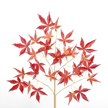 Fall colored artificial maple leaf party banquet decor art multi-use maple Leaf artificial maple tree branches and leaves