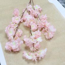 100 см шелковые цветы длинные персиковые Сакура Искусственные цветы розовые свадебные украшения ветка вишни для домашнего декора свадебные ...(Китай)