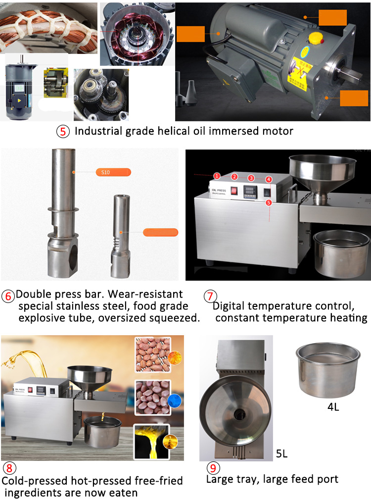 Oil Pressers Sesame Soybean Cannabis Oil Extraction Machine