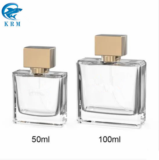 La FDA botella de perfume de vidrio con sin engarces de la bomba