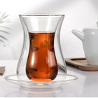 Turkish Glasses Glass Glass Transparent Heat Resistant Turkish Tea Glasses Cups And Saucers Set With A Glass Spoon