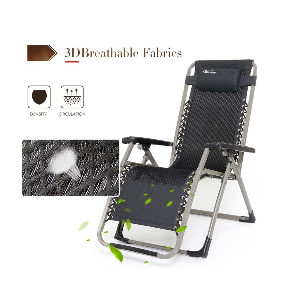 Wholesale Metal Chair With Armrest Garden Sun Lounger Folding Chair Zero Gravity Chair for Outdoor&Indoor