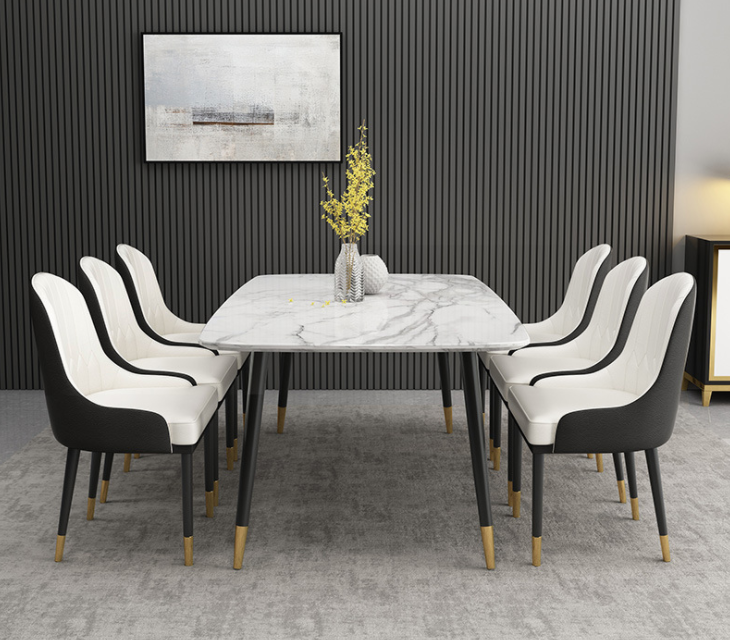 New Household Marble Rectangular Dining Table Small Apartment Simple Modern Dining Table Buy New Household Marble Rectangular Dining Table Small Apartment Simple Modern Dining Table And Chair Combination Factory Direct Selling Dining Table