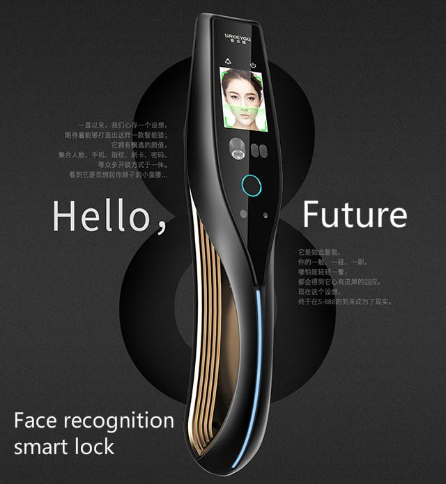 Face recognition lock smart fingerprint door lock full automatic intelligent lock