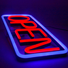 China hot sale led neon open sign colorful small open neon sign