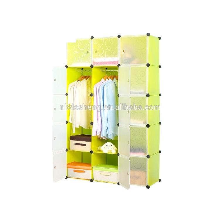 12 куб пластиковый шкаф 2 вешалка для одежды складная Pp панель Diy гостиная спальня шкаф для хранения