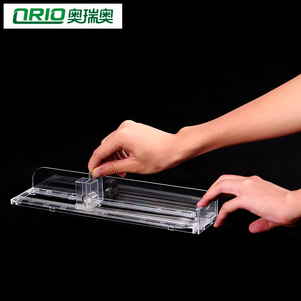 Length 230mm, Can Put 6-8 packs Retail Supermarket Plastic Shelf Pusher Front Tray Stopper China TOP 10 manufacturer