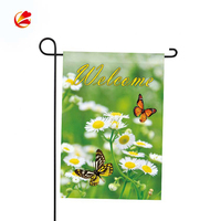 Custom Made Polyester Waterproof Seasonal Outdoor Decorative Sublimation Garden Flag Set