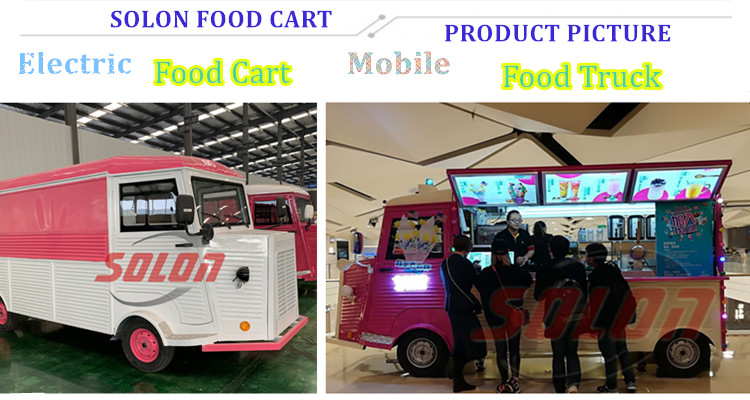 Electric ice cream food cart mobile fast food truck in Australia