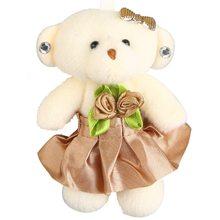 Плюшевые брелки 12 см милый мультяшный красочный медведь чучело кулон аксессуары Подарочная игрушка для детей унисекс(Китай)