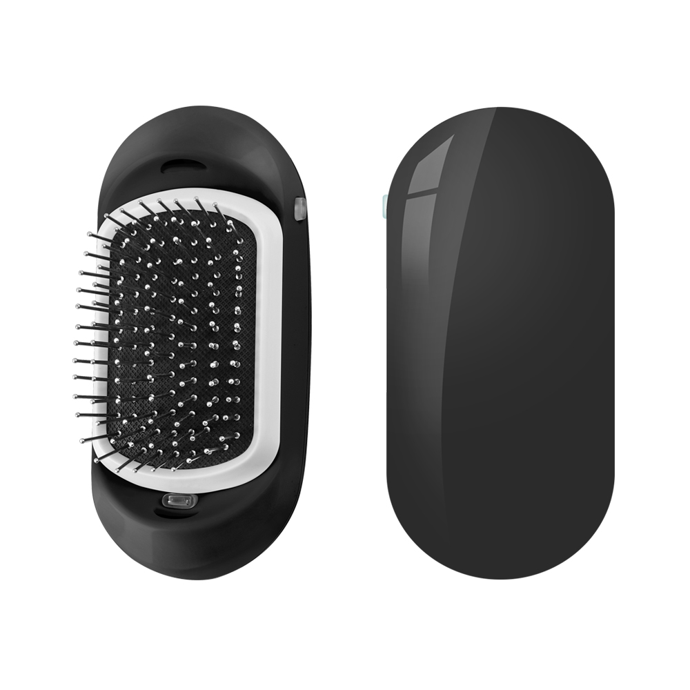 2.0 Antic-Static Hair Brush Portable Electric Ionic Hairbrush Vibrating Scalp Massage Comb Double Negative Ions Comb