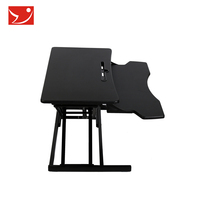 Double layer Foldable and Portable laptop table computer desk bed stand desk